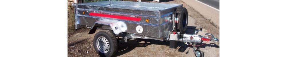 Remolques de cargas galvanizados de un eje